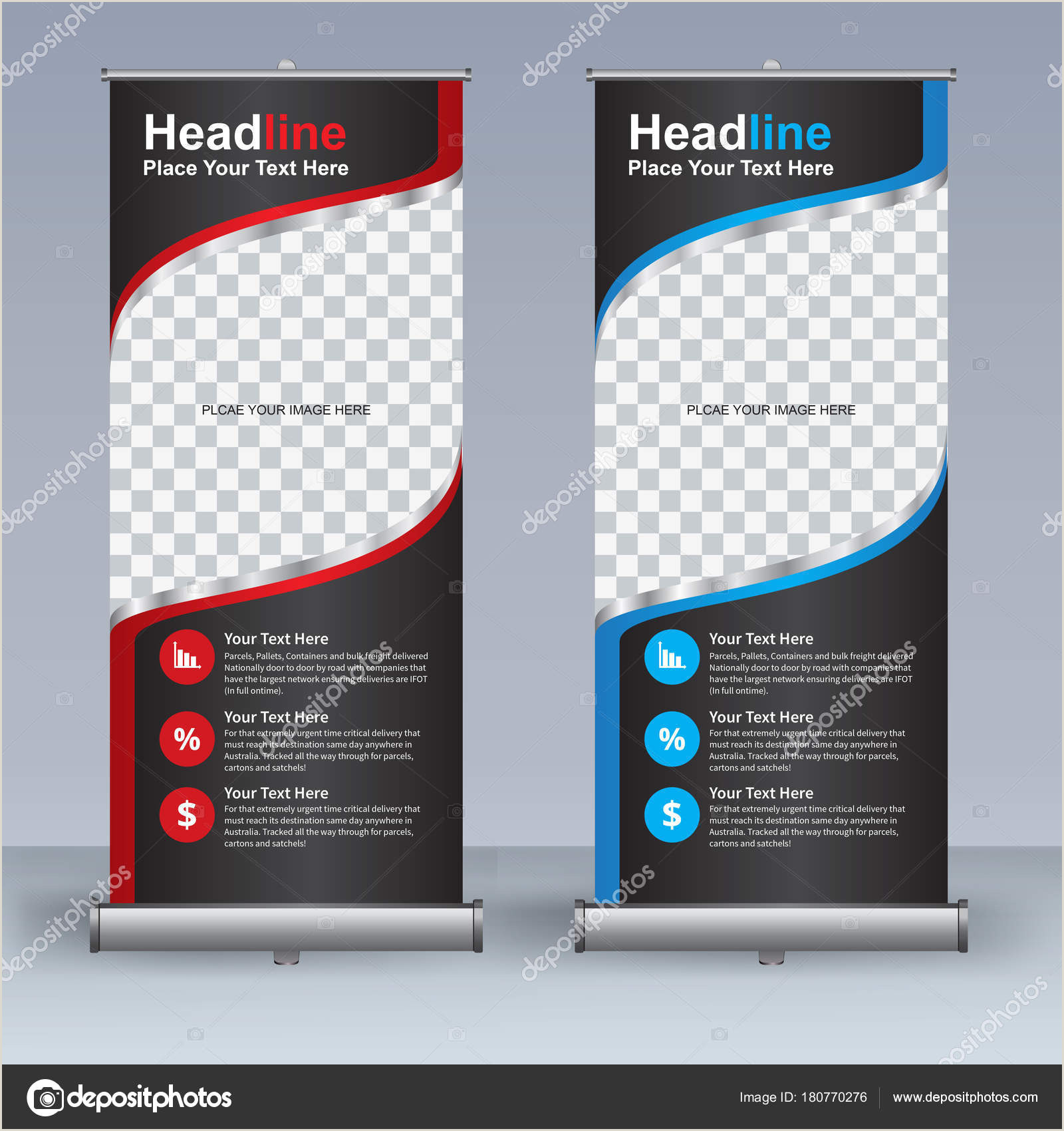Retractable Banner Designs ᐈ Pull Up Banner Designs Stock Vectors Royalty Free