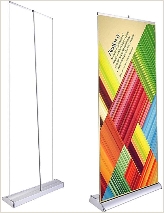 """Retractable Banner Stands Reviews Deluxe 33""""x79"""" Retractable Rollup Banner Stand Trade Show Display Sign Holder Exhibition Promotion Aluminum Structure"""