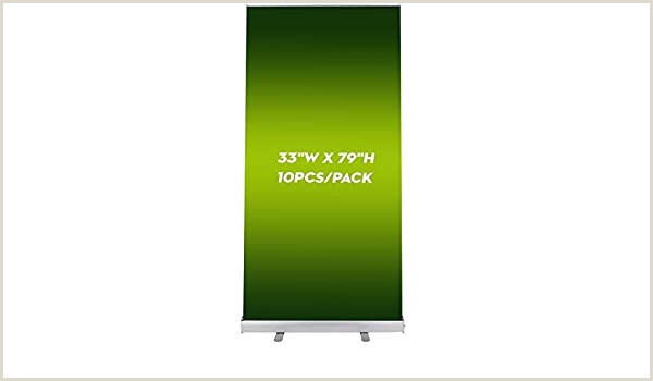 """Retractable Banner Stands Reviews Vevor 10 Pack Banner Stand 33""""x79"""" Retractable Banner Stand Aluminum Alloy Retractable Roll Up Banner Stand With Bag For Trade Show Sign Display 10"""