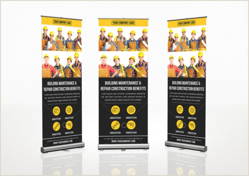 Retractable Banners Printing Roll Up Banner Template Template Stock By Pixlr