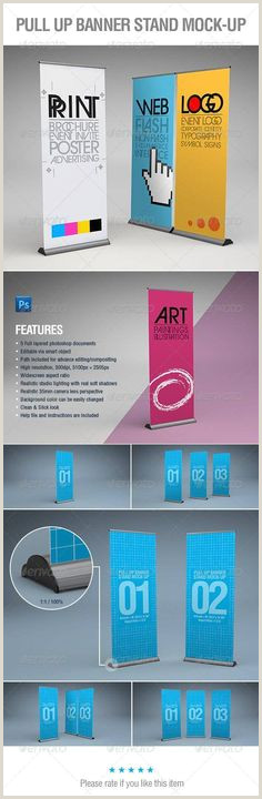 Retractable Displays Roll Ups 30 Best Projects & Ideas Banner Stands Images