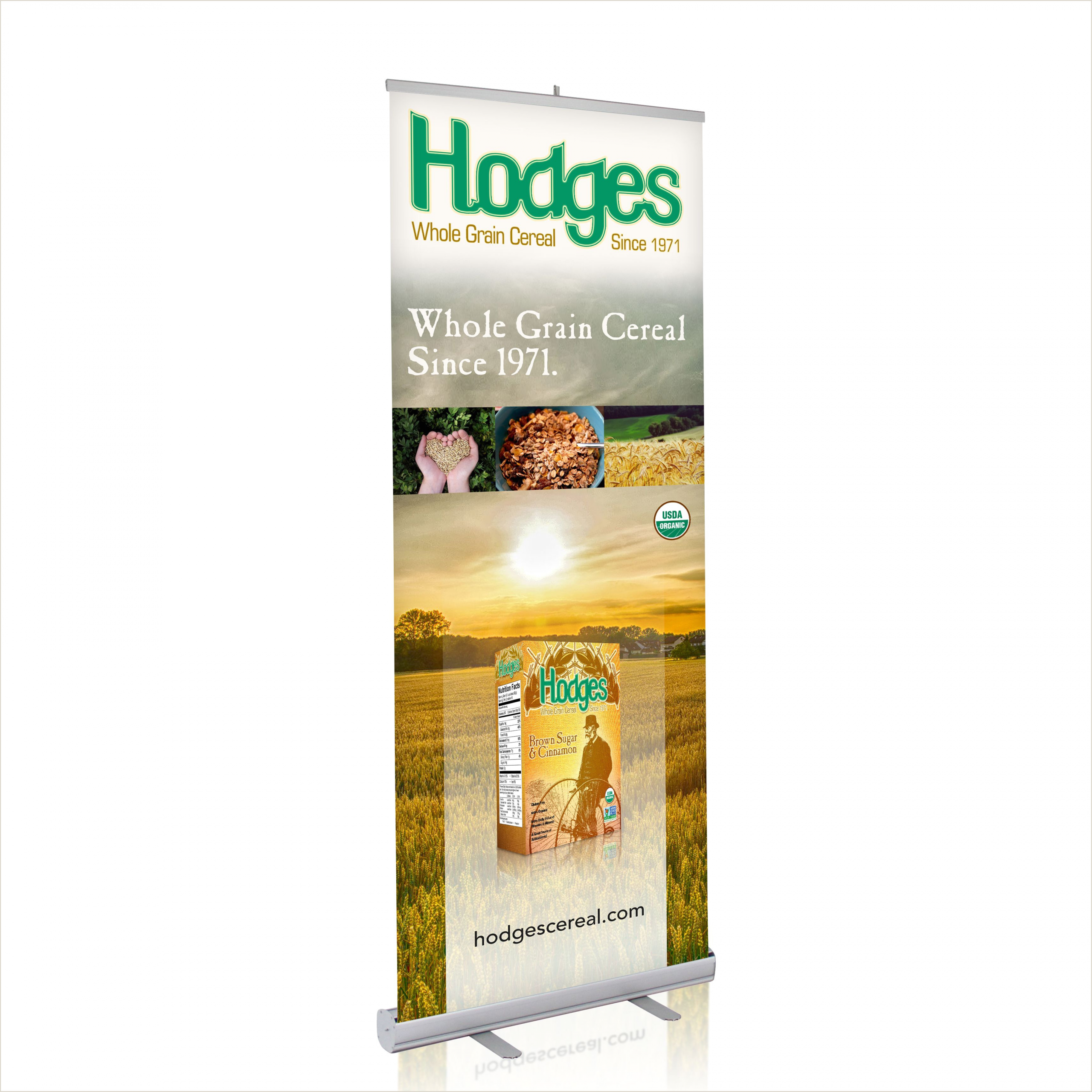 Retractable Displays Roll Ups Bud Roll Up Banner