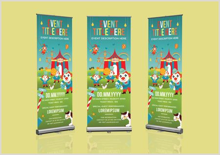 Retractable Displays Roll Ups Roll Up Banner Template Graphic Template Pixlr Market