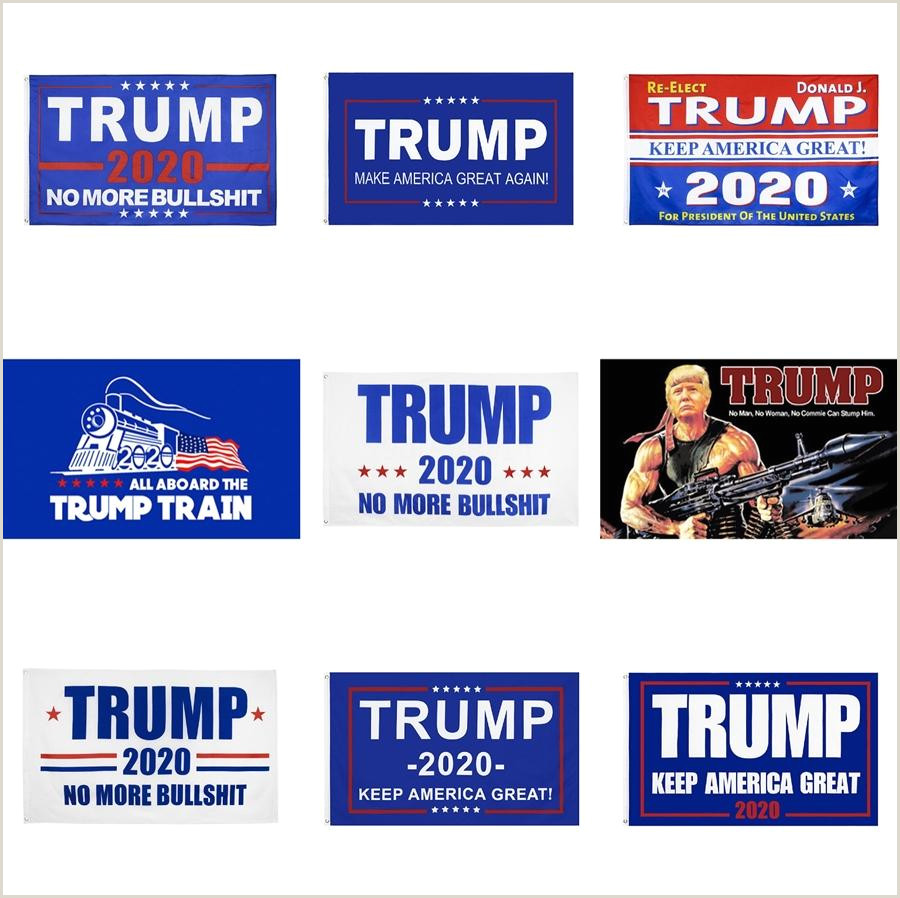 Retractable Hand Banners Handhold Donald Trump Flag American Flag Keep America Great Banner Mini President 90 150cm Paper Waterproof Hand Flags Flagpole E3307 412