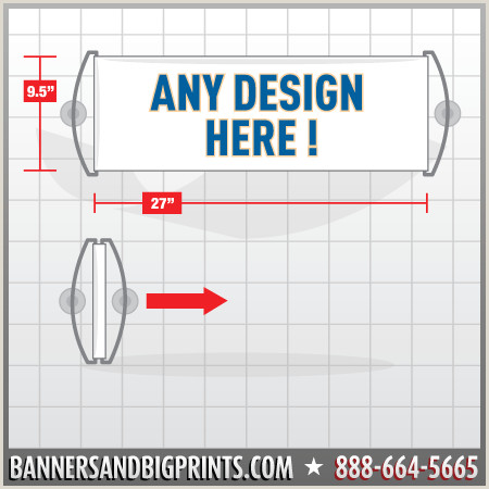 Retractable Hand Banners Single Sided Hand Held Roll Up Banner Custom Design
