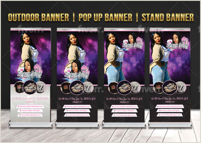 Retractable Scroll Banner Do Retractable And Roll Up Banner In 24 Hours By Isra Malik