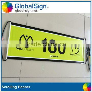 Retractable Scroll Banner Printed Banner And Flags Custom Printed Retractable Fan