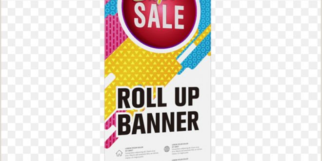 Retractable Scroll Banner Tear Drop Retractable Banner Png Image with Transparent