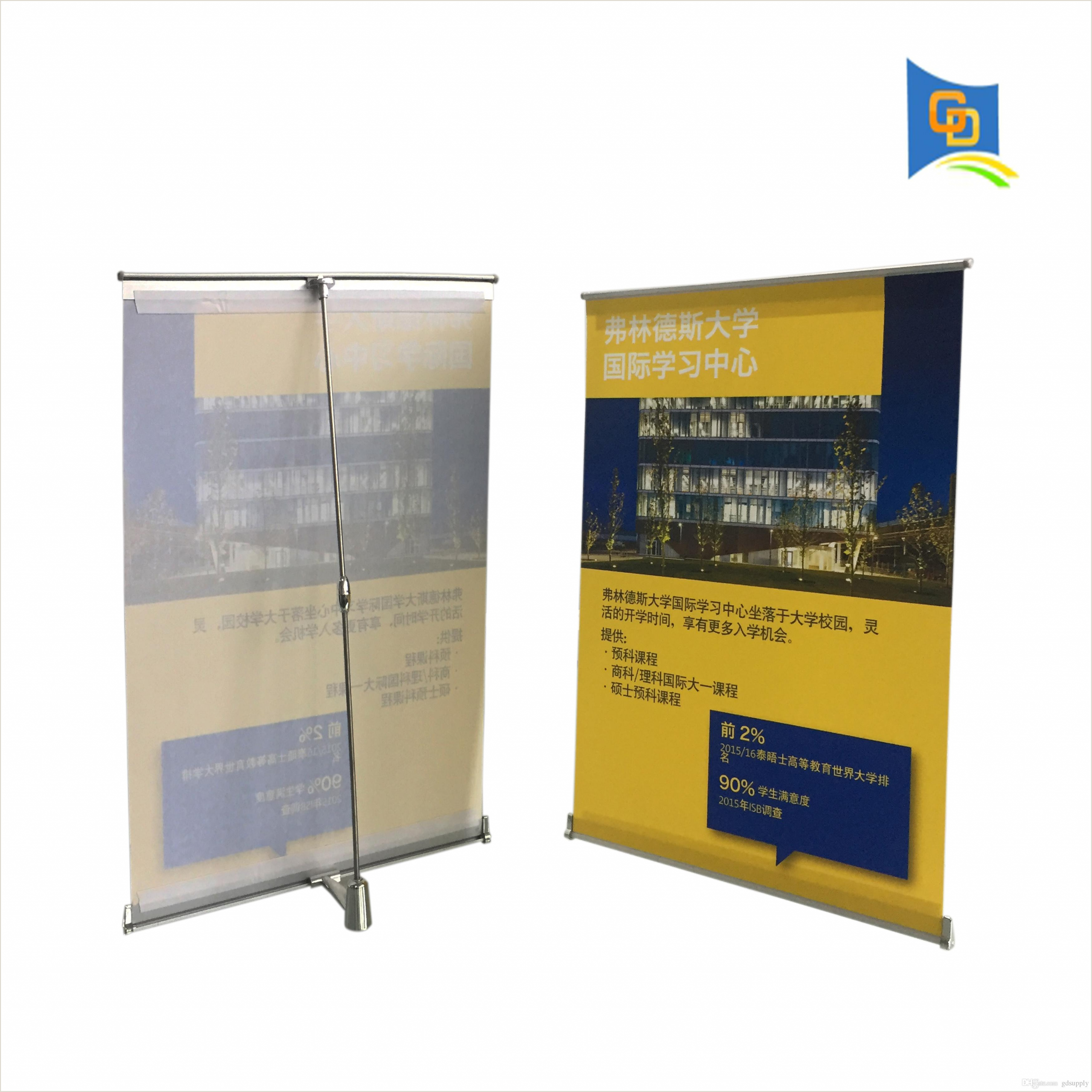 Retractable Signs In Stand 2020 Mini L Banner Desktop A3 Size Display Stand For Meeting From Gdsupply $5 64