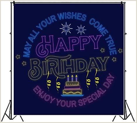 Roll A Banner Amazon Yeele Neon Happy Birthday Backdrop 8x8ft May