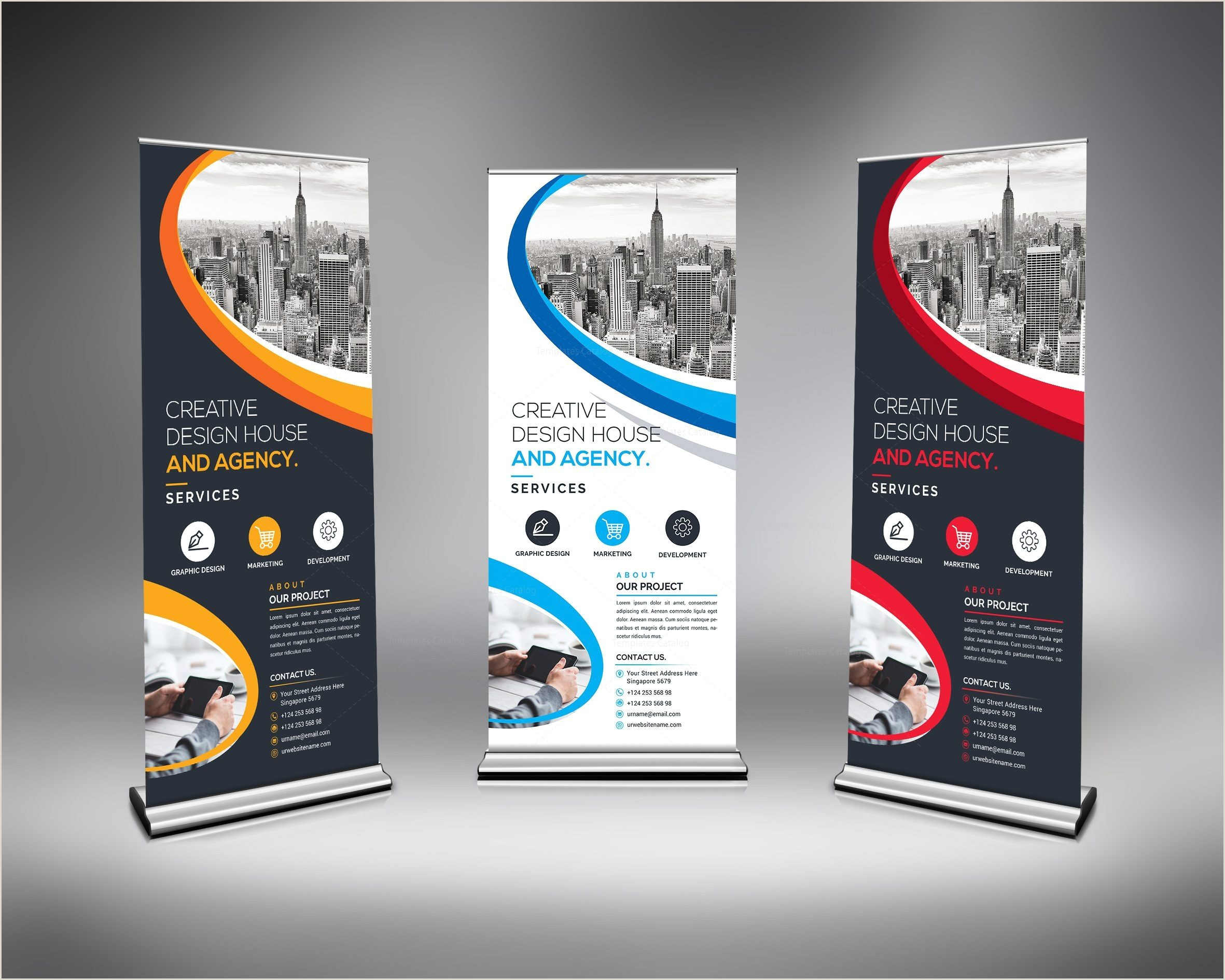 Roll A Banner Best Roll Up Banner Template Vibrant Graphics