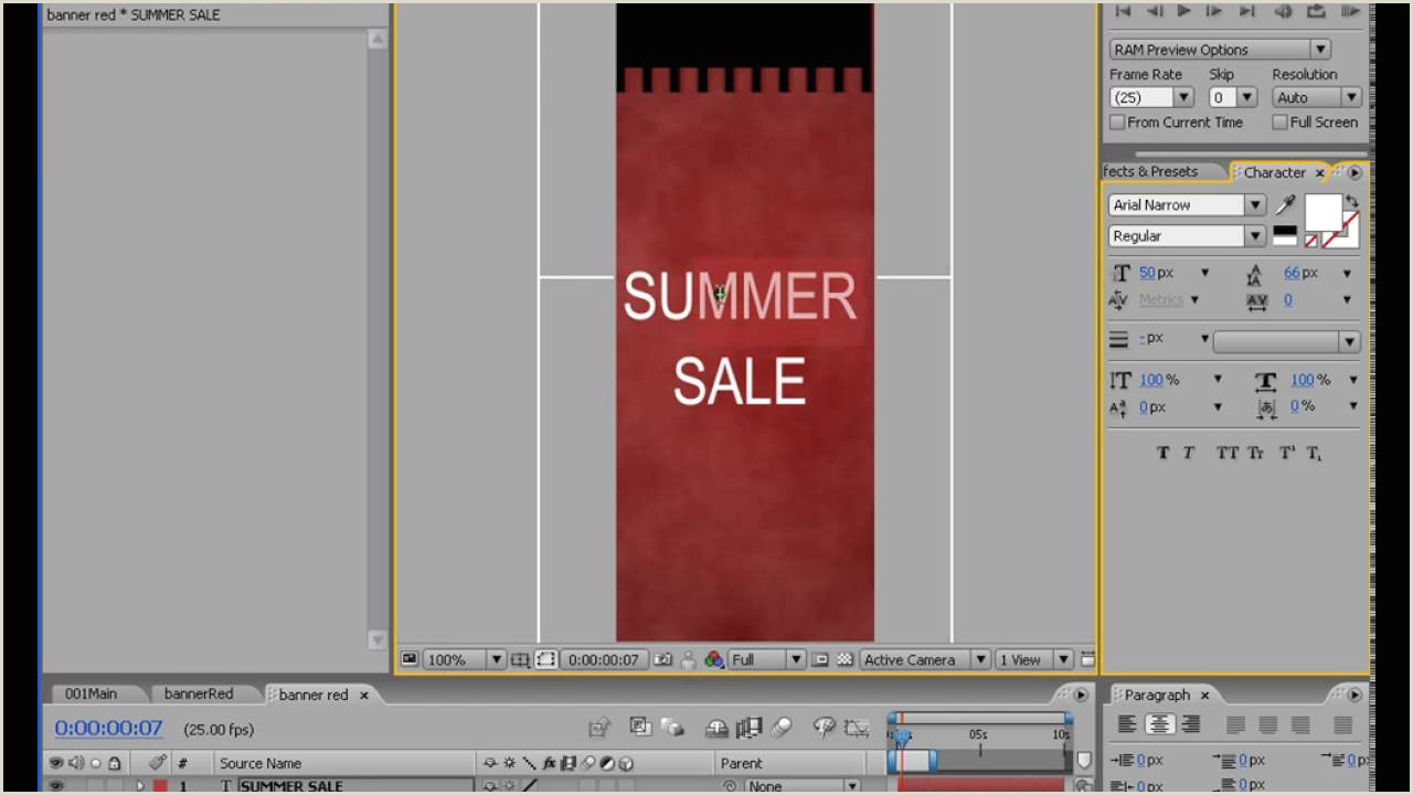 Roll A Banner Rolling Banners After Effects Tutorial
