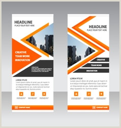 Roll Out Banner Roll Up Banner Orange Vector Over 500