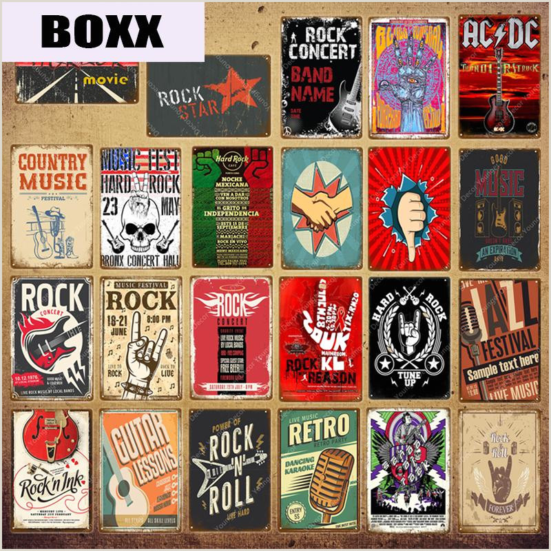 Roll Out Signs 2020 Retro Rock Roll Poster Country Music Jazz Acdc Metal Signs Vintage Band Party Decor Pub Bar Cafe Club Wall Decoration Yi 092 From Boxx $1 21