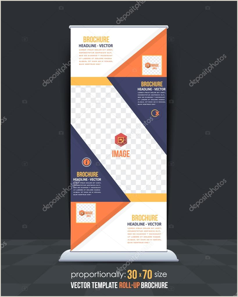 Roll Up Advertising Banners Business Roll Up Banner Template Vertical Ad Design