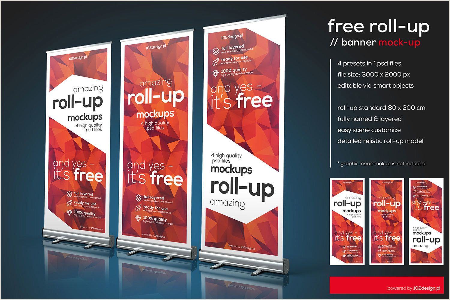 Roll Up Advertising Banners Free Psd Roll Up Mockup Free Mockup
