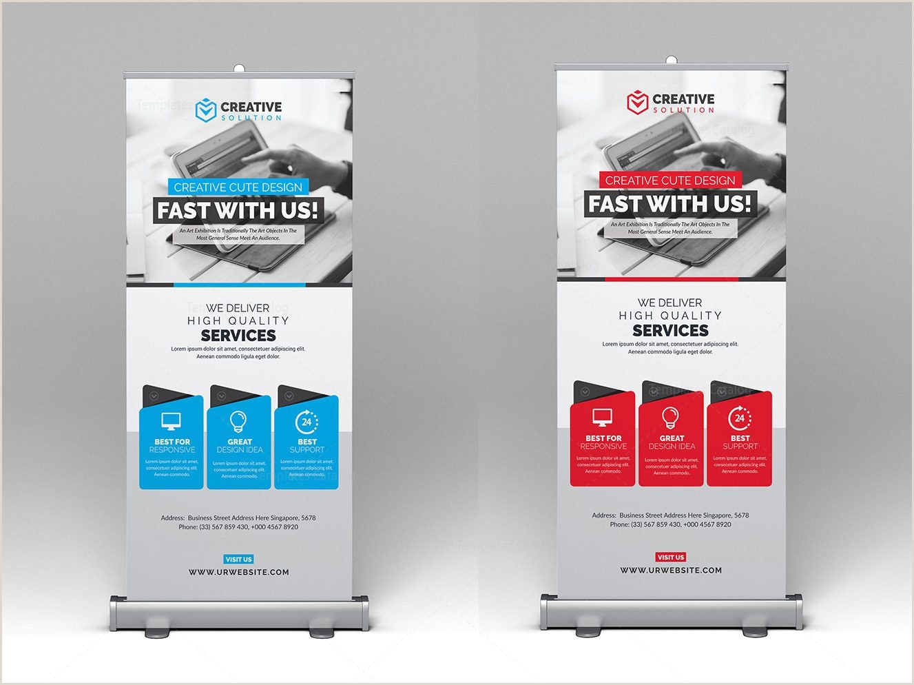 Roll Up Advertising Banners Rollup Banner Template