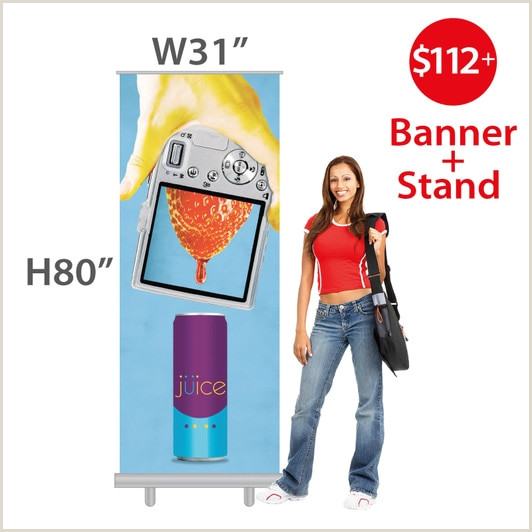 Roll Up Banner Size In Inches Retractable Banner Size