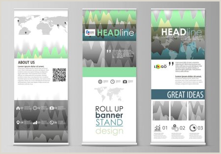 Roll Up Banner Stands Set Of Roll Up Banner Stands Flat Design Templates