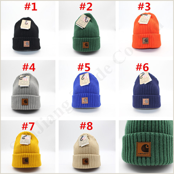 Roll Up Design 2019 Solid Design Ins Women Beanie Hat Knitted Wool Cap Car