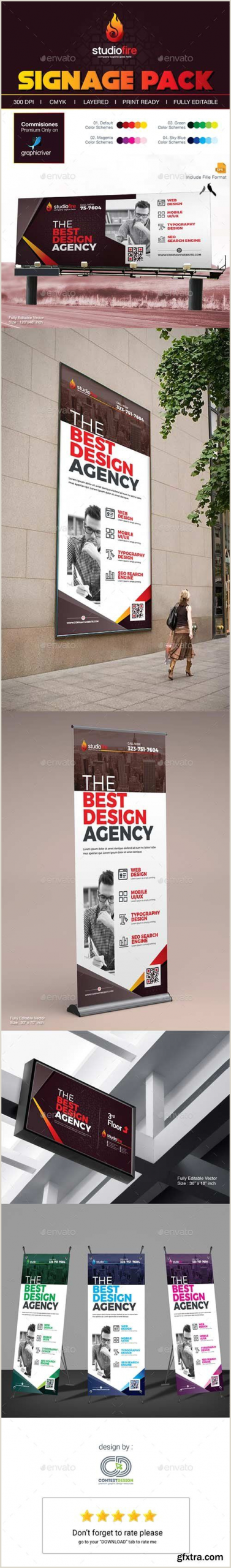 Roll Up Design Graphicriver Signage Design Billboard Rollup Banner