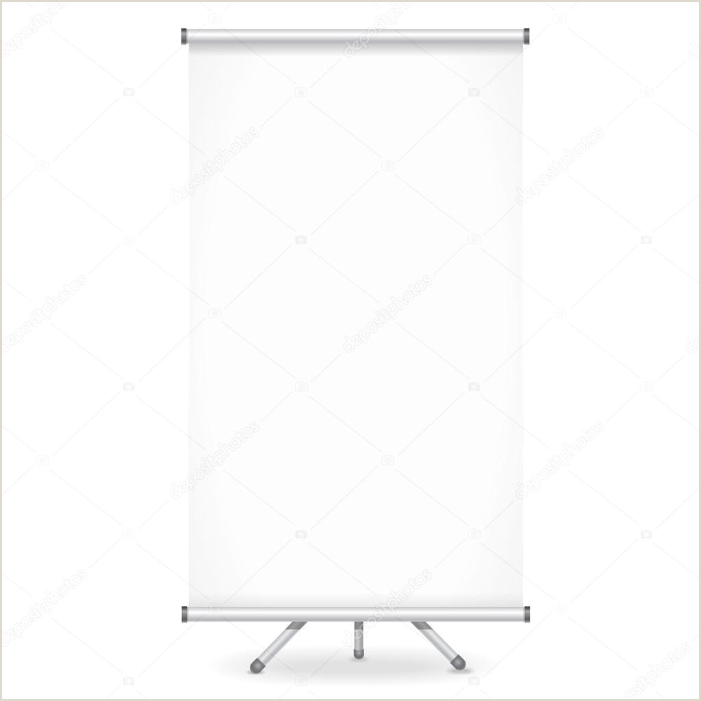 Roll Up Display Banner Blank Roll Up Banner Display On White Background