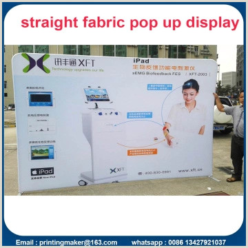 Roll Up Display Stand 8 Ft Tension Fabric Backdrop Trade Show Displays China