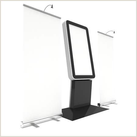 Roll Up Display Stand Trade Show Booth Set Roll Up Pop Up With Lcd Screen Floor