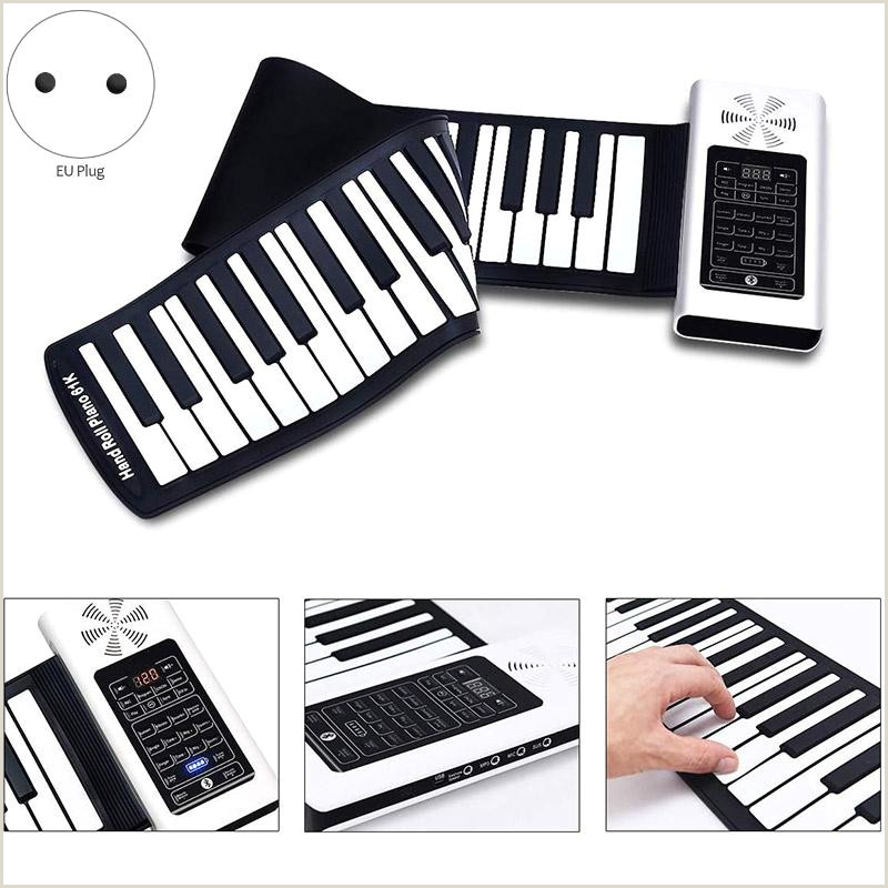Roll Up Displays 2020 Electric Roll Up Piano Portable Foldable 61 Keys Electronic Music Keyboard Piano Battery Usb Powered With Louder Speaker From Qiananrain