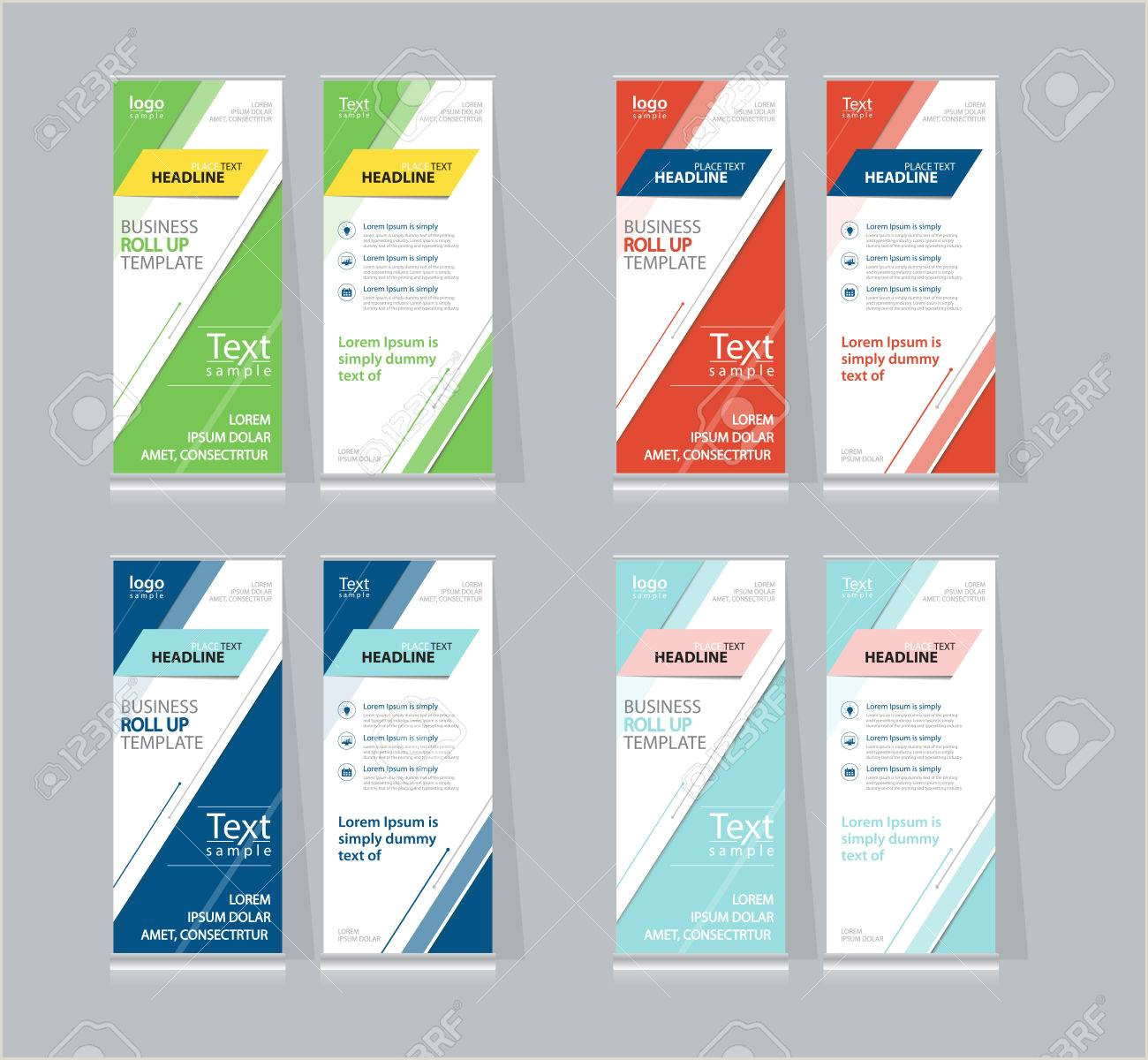 Roll Up Displays Set Color Full Roll Up X Stand Display Design Template For