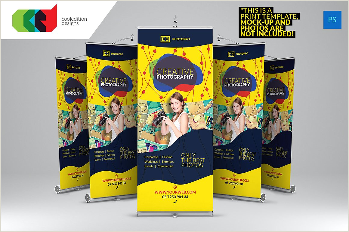 Roll Up Poster Display 13 Graphy Banner Designs Psd Ai Eps Vector