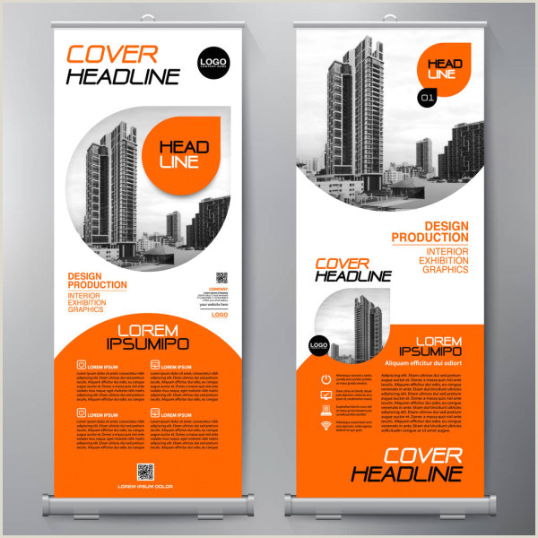 Roll Up Sign Stand Business Roll Up Standee Design Banner Template — Stock