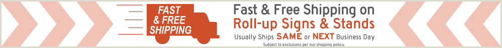Roll Up Sign Stand Folding Sign Stand For Roll Up Signs