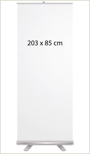 Roll Up Sign Stand Roll Up Display 203×85 Cm Incl Druck