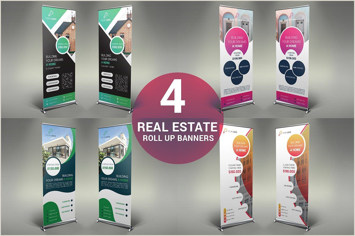 Roll Up Size Real Estate Roll Up Banners Inches Files Psd Size