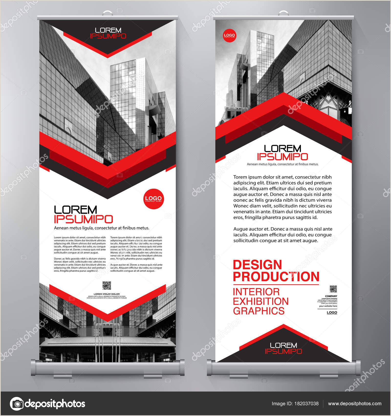 Roll Up Standee Business Roll Up Standee Design Banner Template Presentation
