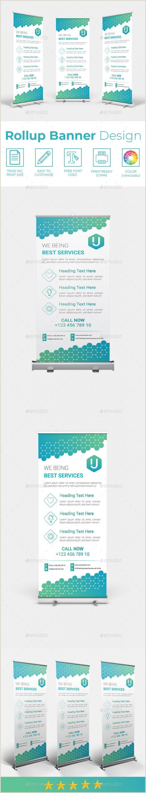 Roll Up Standee Rollup Banner Templates Stylish Graphics