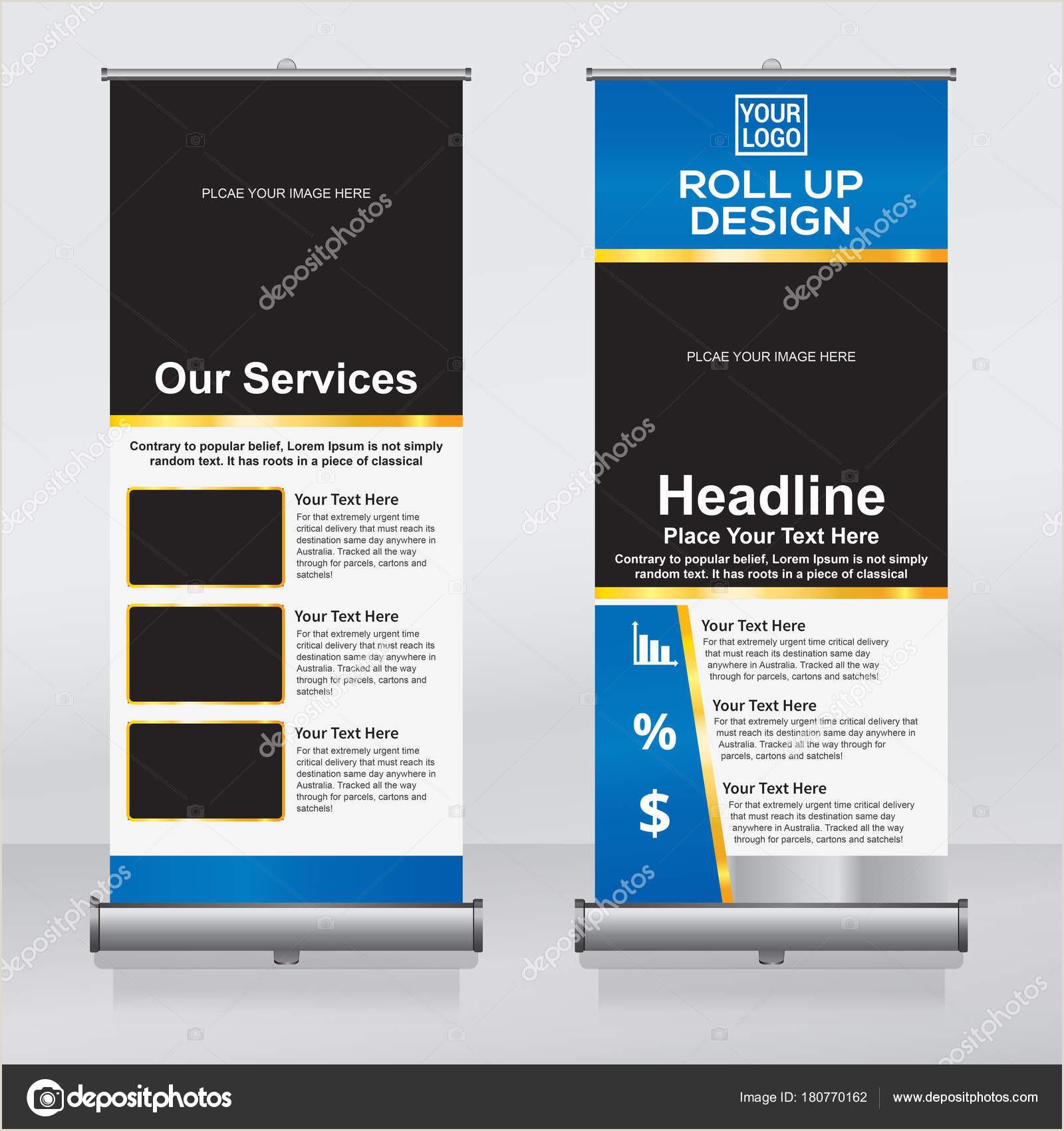 Roller Banner Design Roll Banner Design Template Vertical Abstract Background