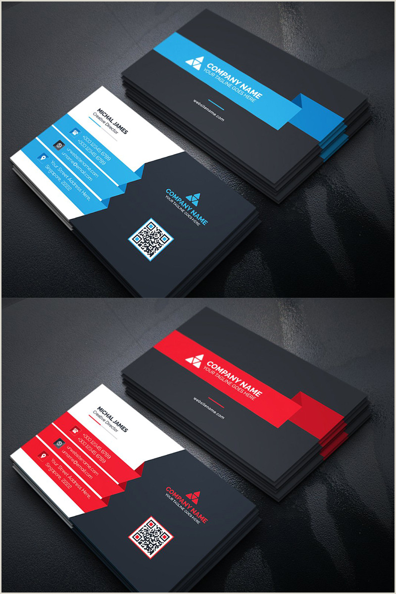 Sample Business Card Designs Modern Business Card Corporate Identity Template In 2020