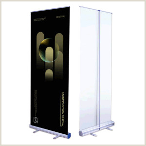 Scrolling Banner Stand Aluminum Material New Standing Scrolling Roll Up Banner Stand