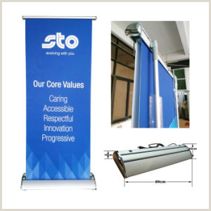Scrolling Banner Stand Double Sided Scrolling Roll Up Screen Banner Stand Sr 03