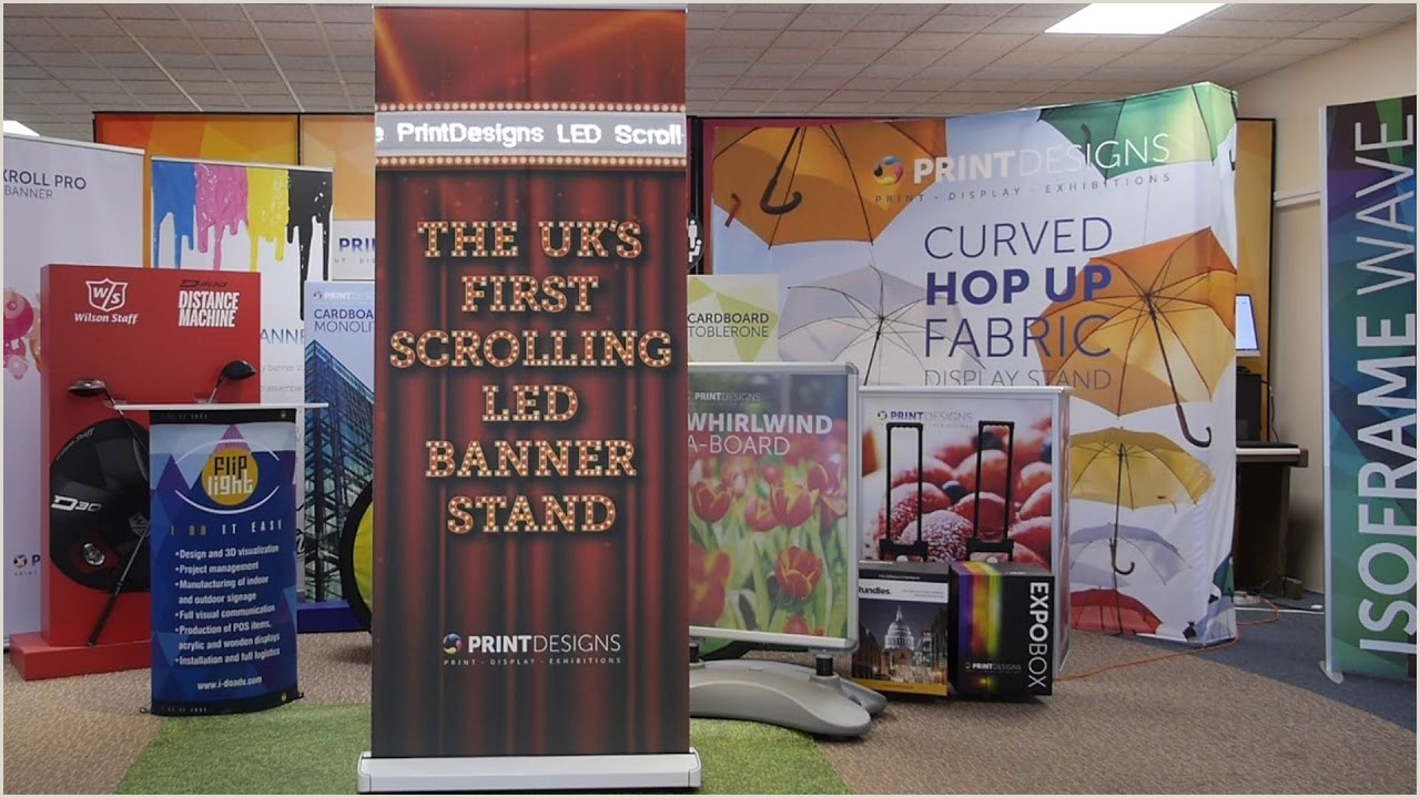 Scrolling Banner Stand Led Scroller Banner Stand