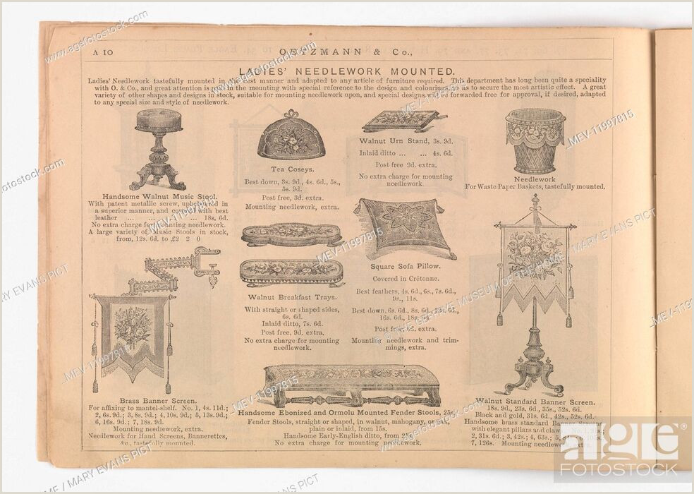 Self Standing Banner Page A10 Entitled La S Needlework Mounted Showing