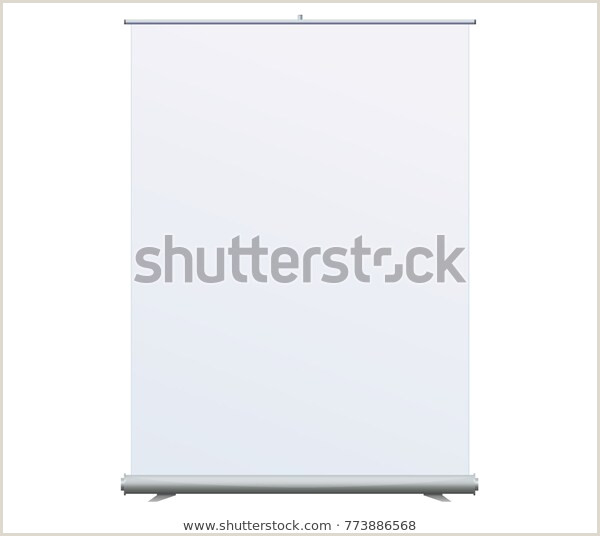 Self Standing Banner Roll Banner Stand Isolated Clean Stock Vector Royalty