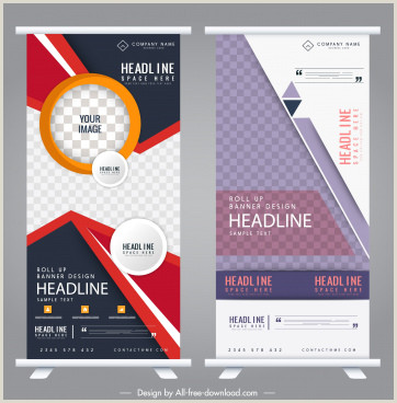 Self Standing Banner Roll Up Banner Stand Free Vector 13 588 Free