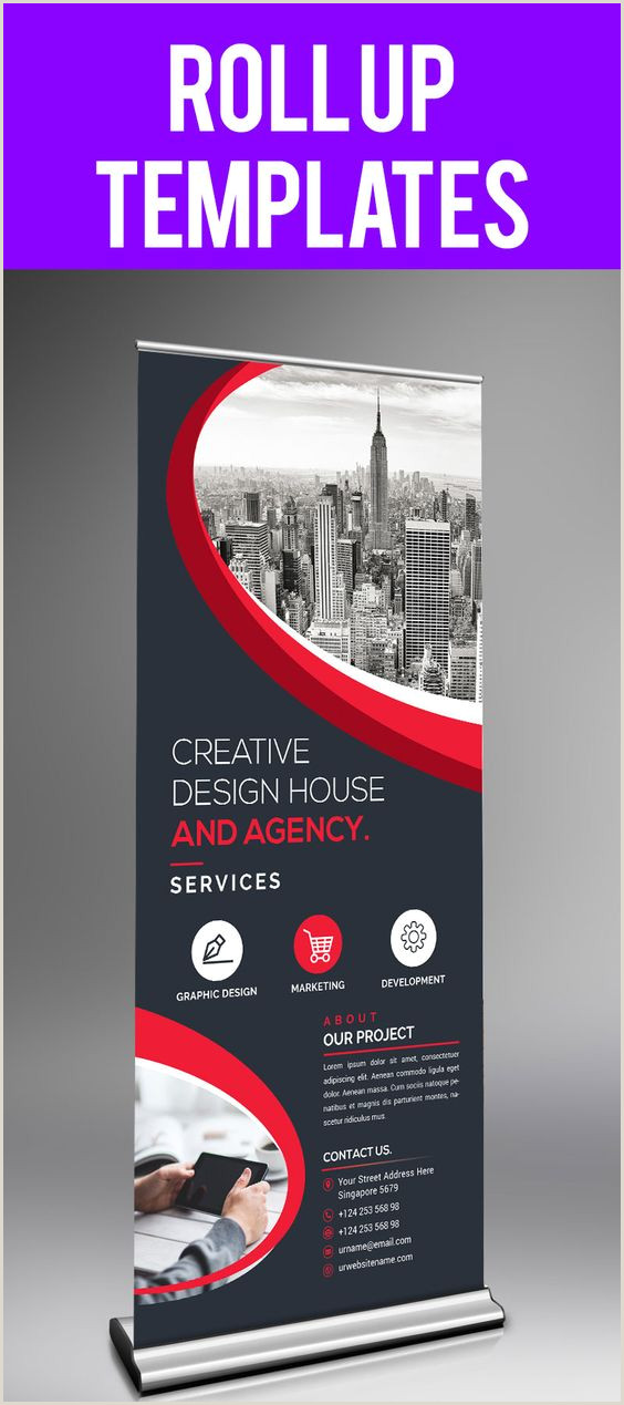 Self Standing Banner Rollup Banner Templates Stylish Graphics