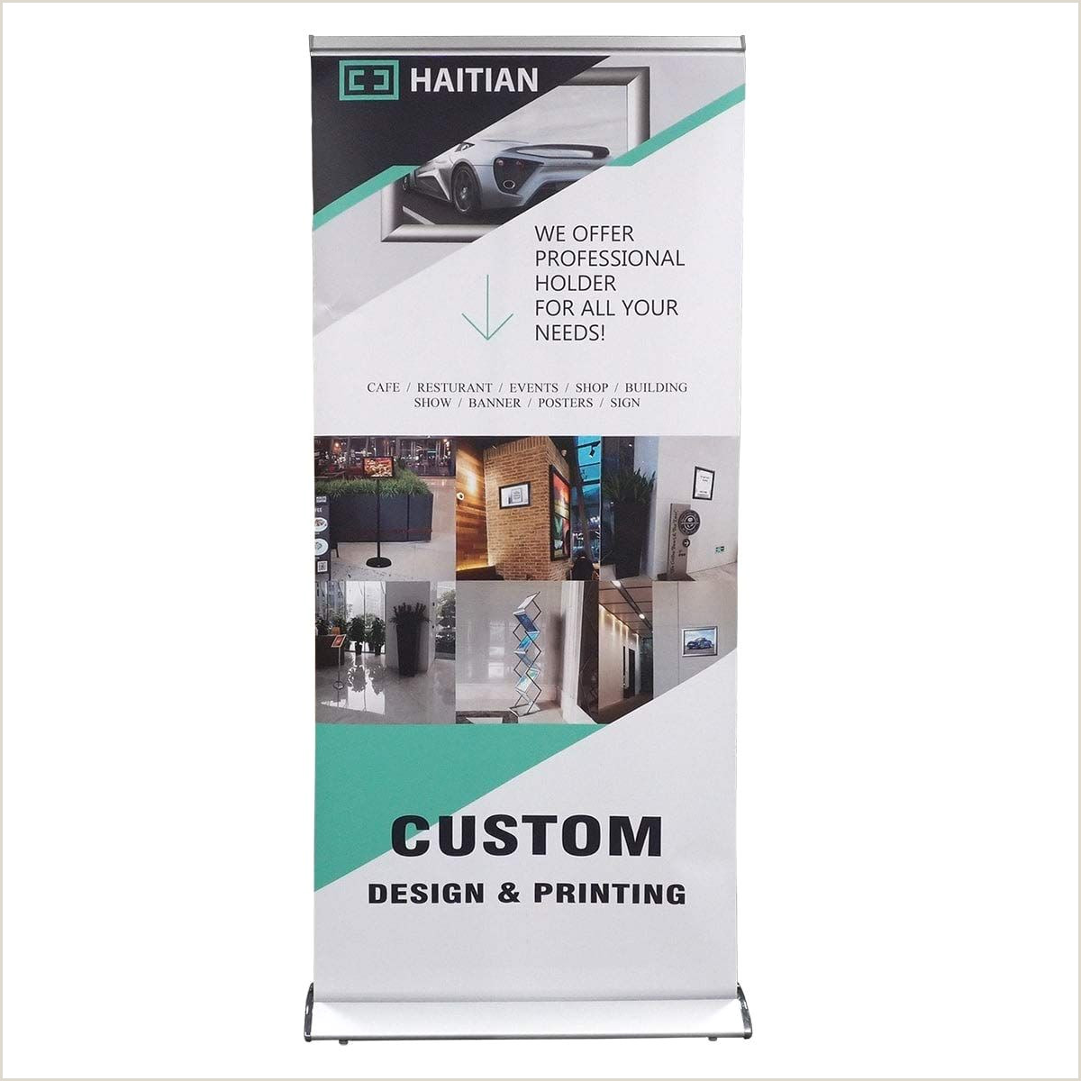 Self Standing Banner Trade Show Displays 33 Premium Retractable Banner Stand