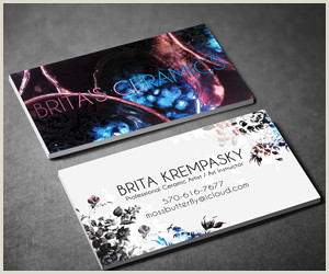 Selling Ceramics Best Business Cards Brita S Ceramic Business Cards Ideas