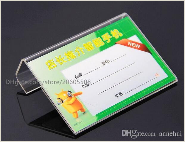 Sign Display Stand 2020 Clear Acrylic L Shape Table Sign Price Tag Label Display Stand Paper Promotion Name Card Desk Frame Label Display Holder From Annehui $11 69