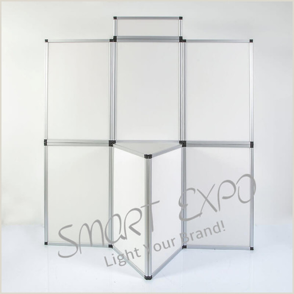 Sign Display Stand Silver Or Black Aluminum Profile Magnetic Light Box Wall